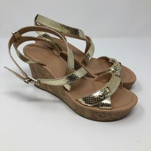 Tommy Hilfiger Wedge Sandals Size 8